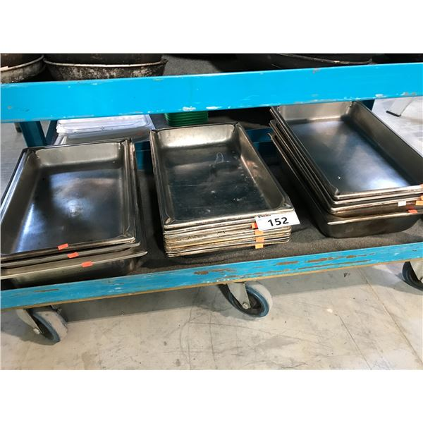 LOT OF STAINLESS STEEL WARMING PANS
