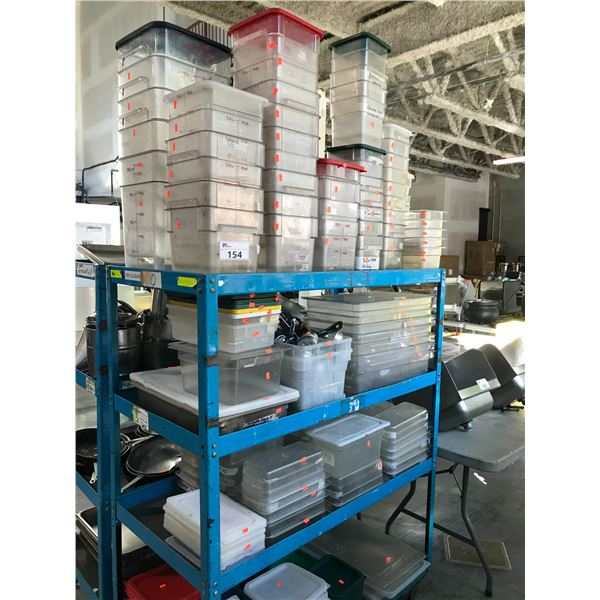 LARGE LOT OF PLASTIC FOOD STORAGE CONTAINERS