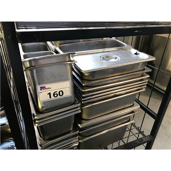 LOT OF STAINLESS STEEL FOOD CONTAINERS