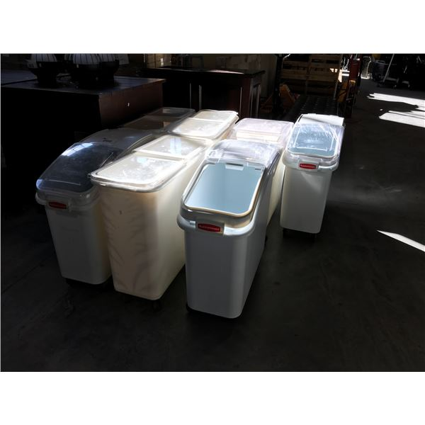 7 RUBBERMAID/CAMBRO MOBILE FOOD STORAGE CONTAINERS