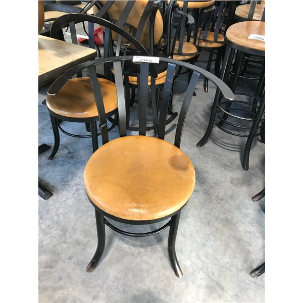 LOT OF 16 BLACK FRAMED/TAN BISTRO CHAIRS