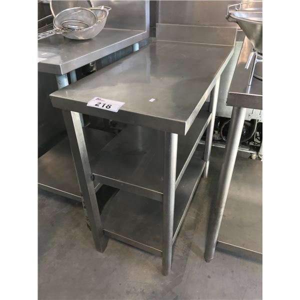 """STAINLESS STEEL 8""""W X 36""""D X 33""""H PREP TABLE"""