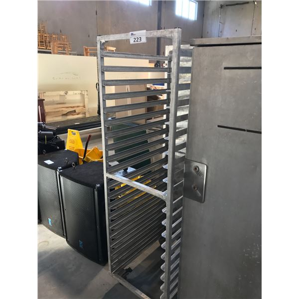ALUMINUM MOBILE PAN RACKS HOLDS UP TO 20 FULL SIZE 18 X 26 OR 40 HALF SIZE 13 X 18 SHEET PANS;