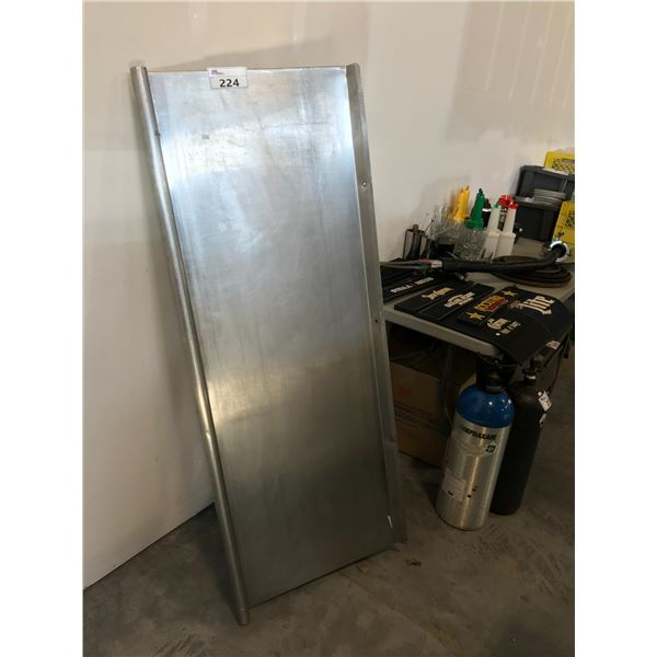 """STAINLESS STEEL 60""""W X 22""""D DISH DRYING SHELF WALL MOUNTED"""