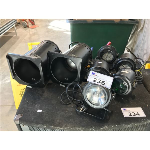 7 MISC. STAGE LIGHTS