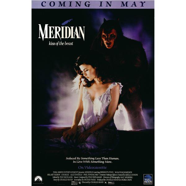 Meridian: Kiss of the Beast 1990 original one sheet poster
