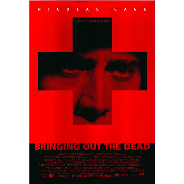 Bringing Out the Dead 1999 original one sheet poster