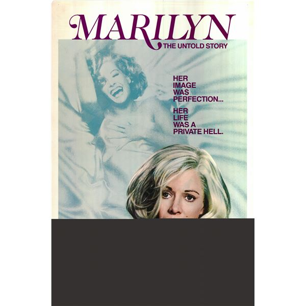 Marilyn: The Untold Story 1981 original vintage one sheet poster
