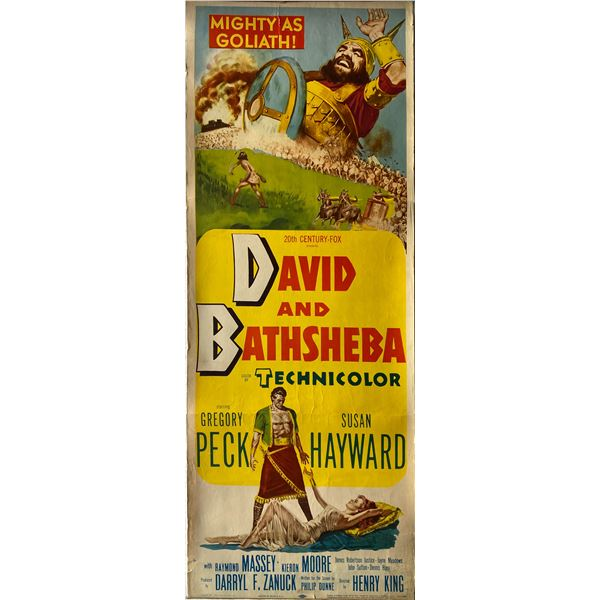 David and Bathsheba 1951 original vintage insert card