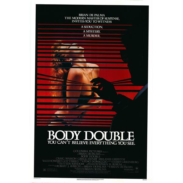 Body Double 1984 original vintage one sheet poster