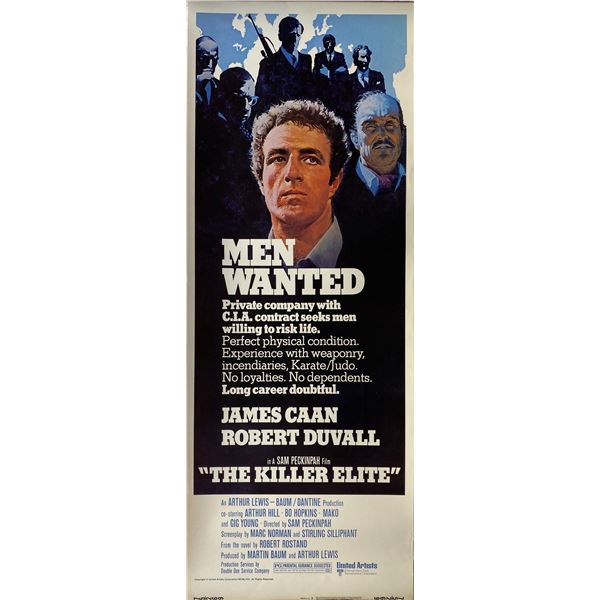 The Killer Elite 1975 original vintage insert card