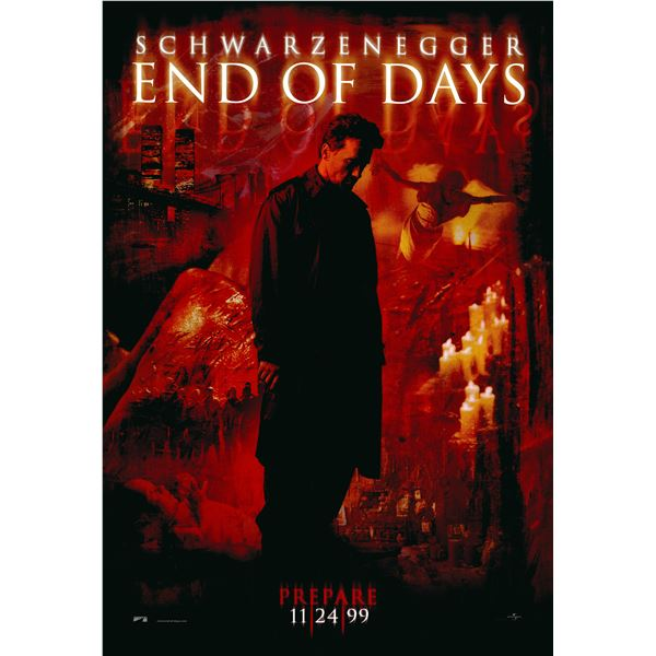 End of Days 1999 original one sheet poster