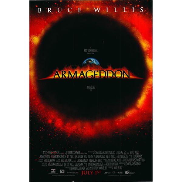 Armageddon 1998 original one sheet poster