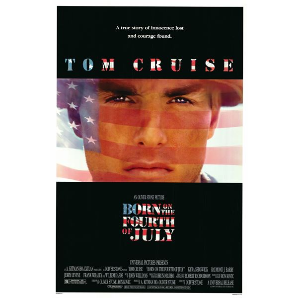 Born on the Fourth of July 1989 original vintage one sheet poster