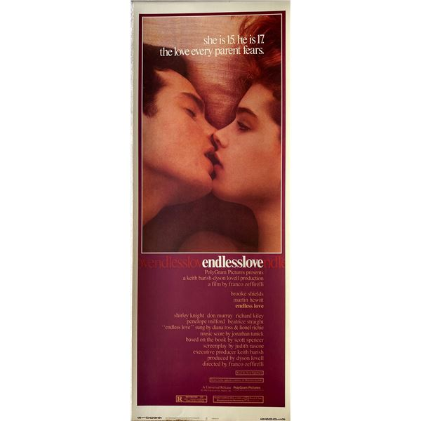 Endless Love 1981 original vintage insert card