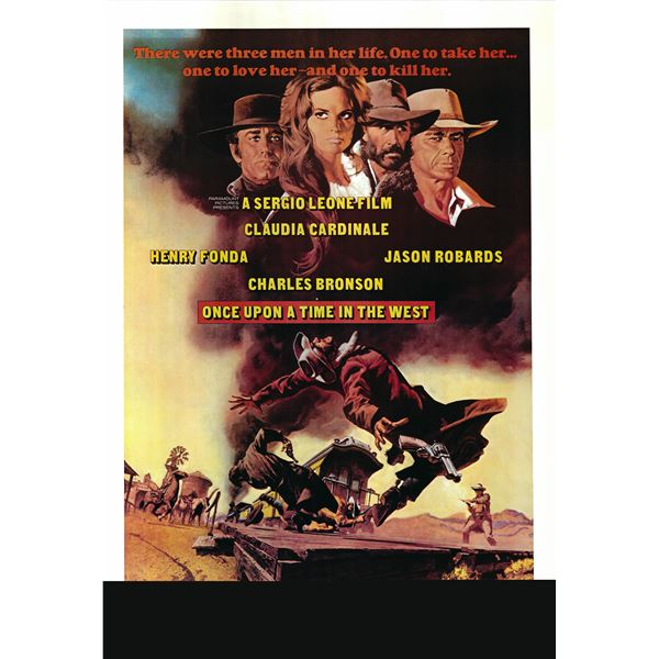 Once Upon a Time in the West 1968 original vintage one sheet poster