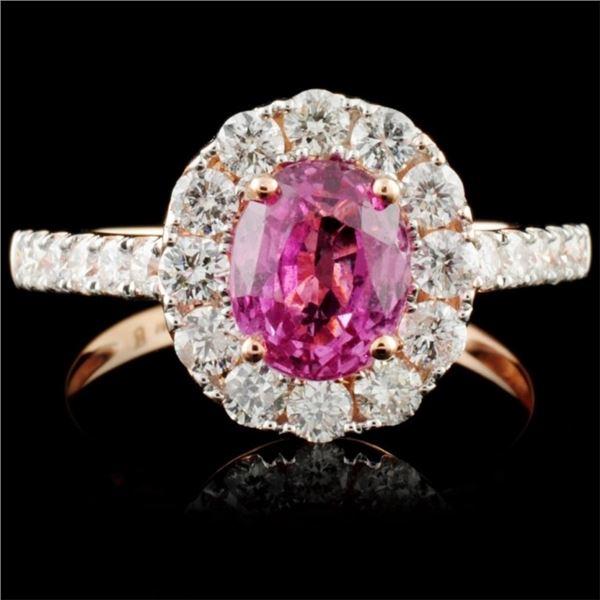 18K Gold 1.68ct Sapphire & 0.80ct Diamond Ring