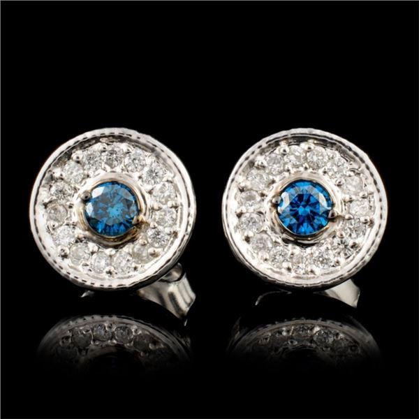 14K Gold 0.32ctw Diamond Earrings