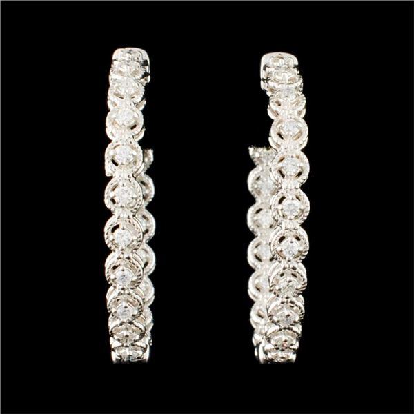 14K Gold 0.62ctw Diamond Earrings