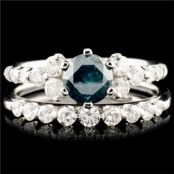 18K Gold 1.52ctw Fancy Color Diamond Ring