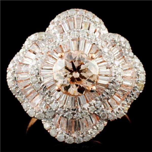 18K Gold 3.59ctw Diamond Ring