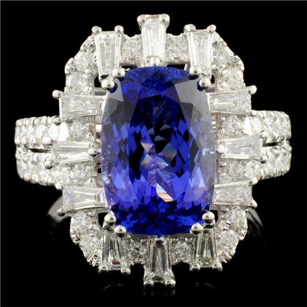 18K Gold 4.50ct Tanzanite & 1.04ctw Diamond Ring
