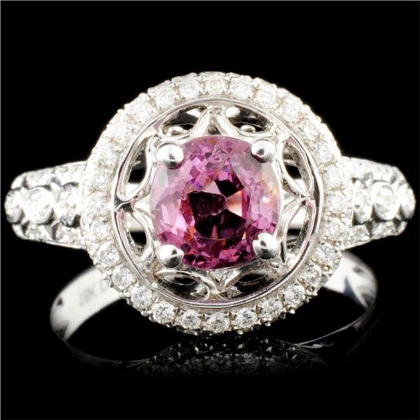 18K Gold 1.43ctw Spinel & 0.47ctw Diamond Ring