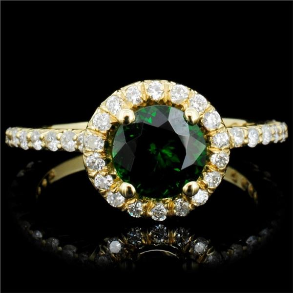 14K Gold 3.00ct Tourmaline & 0.75ctw Diamond Ring