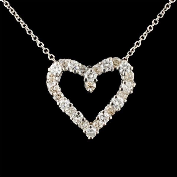 14K Gold 0.76ctw Diamond Pendant