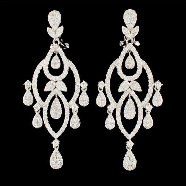 14K Gold 4.70ctw Diamond Earrings