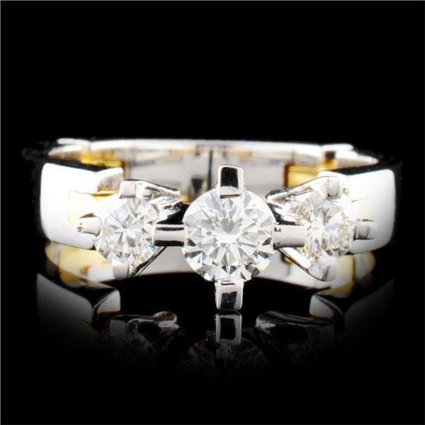 18K Gold 0.72ctw Diamond Ring