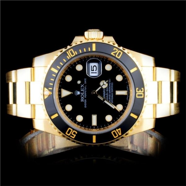 Rolex 18K YG Submariner Men's Watch