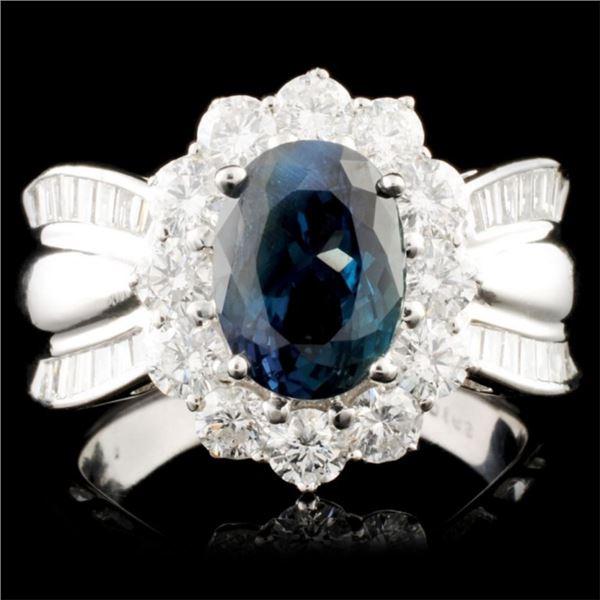 14K Gold 3.22ct Alexandrite & 1.63ctw Diamond Ring