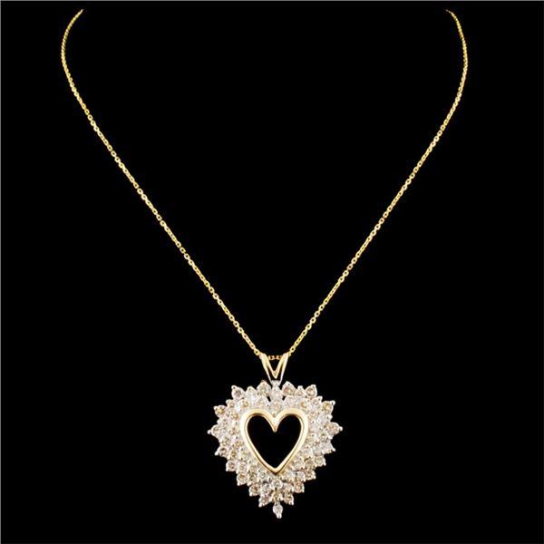 14K Gold 0.97ctw Diamond Pendant