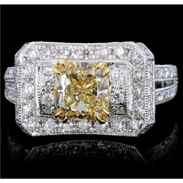 18K Gold 2.31ctw Fancy Color Diamond Ring