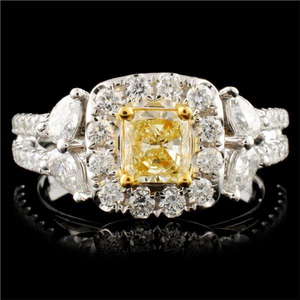 18K Gold 1.42ctw Fancy Diamond Ring