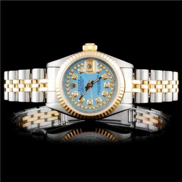 Rolex YG/SS Oyster DateJust Ladies Wristwatch