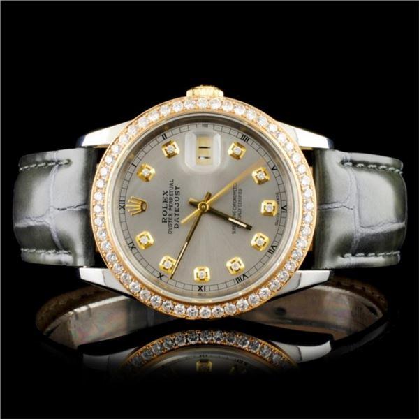 Rolex DateJust Diamond 36MM Wristwatch