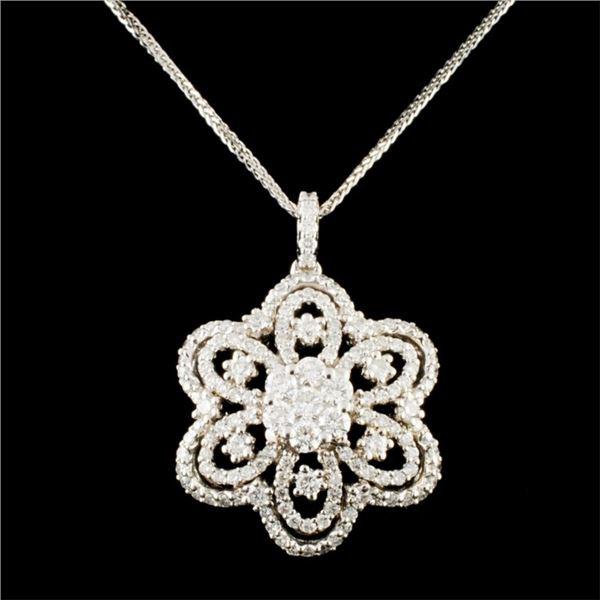 18K Gold 2.03ctw Diamond Pendant