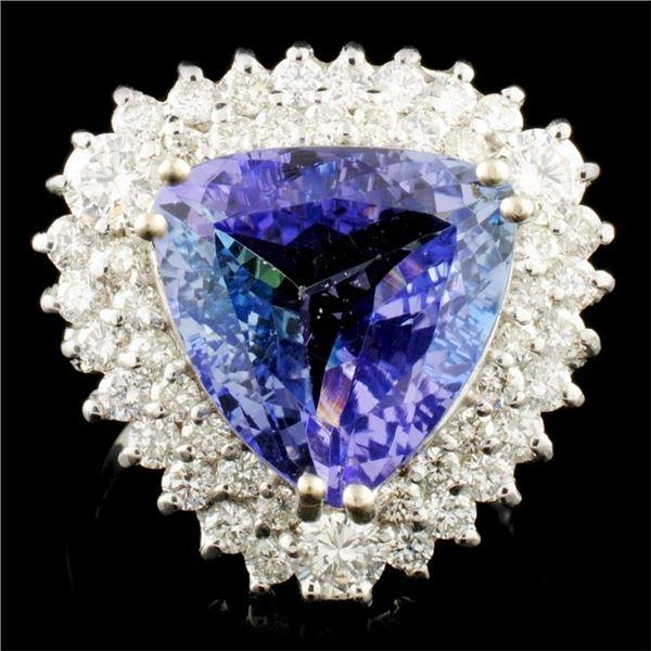 14K Gold 6.82ct Tanzanite & 1.39ctw Diamond Ring