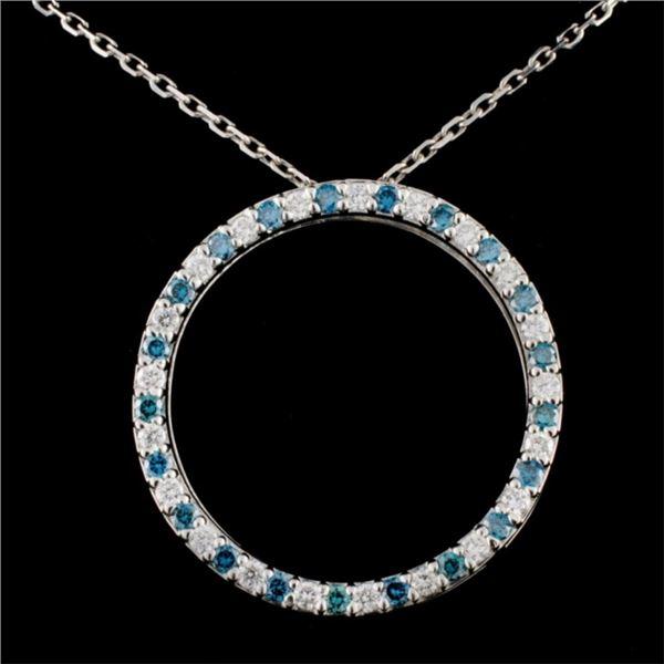 18K Gold 0.62ctw Fancy Diamond Pendant