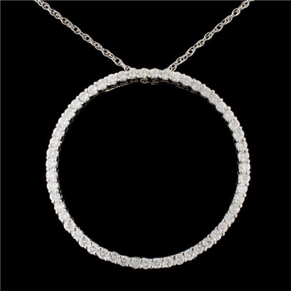 14K Gold 1.23ctw Diamond Pendant