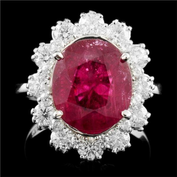 14K Gold 5.06ct Ruby & 1.24ctw Diamond Ring