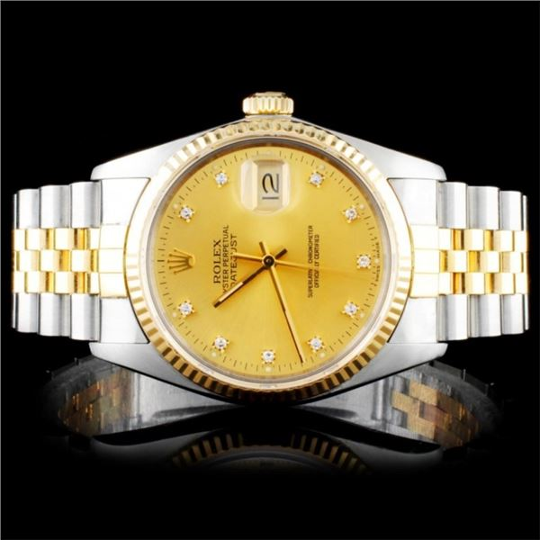 Rolex Two Tone DateJust Diamond Watch
