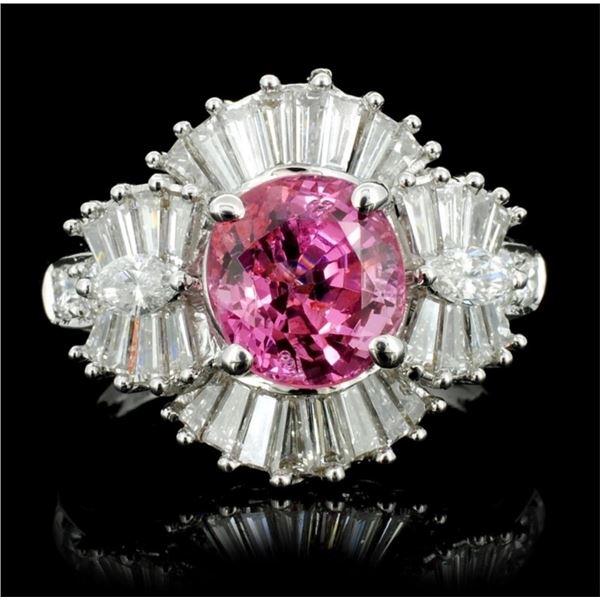 18K White Gold 2.26ct Spinel & 1.51ct Diamond Ring