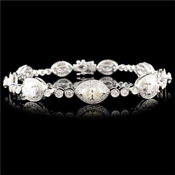 18K Gold 5.29ctw Diamond Bracelet