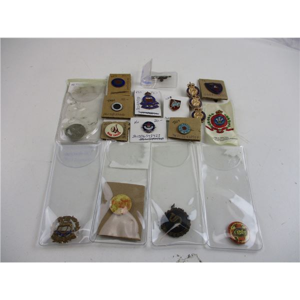 ASSORTED MILITARY PIN ETC LOT