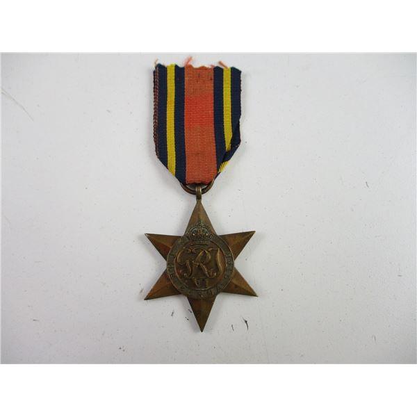 WWII BRITISH BURMA STAR MEDAL