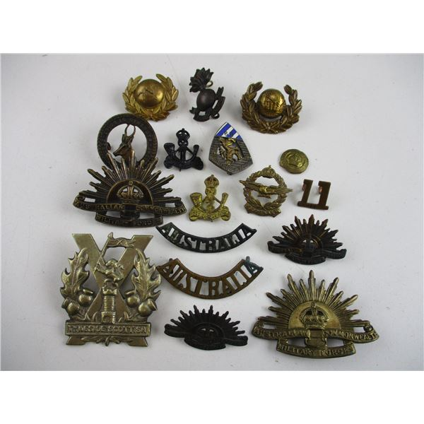 ASSORTED AUSTRALIAN, SOUTH AFRICAN ETC BADGES.