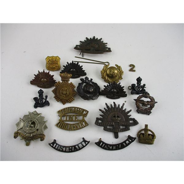 ASSORTED AUSTRALIAN, SOUTH AFRICAN ETC BADGES